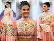 anisha ambrose in divya reddy long skirt crop top