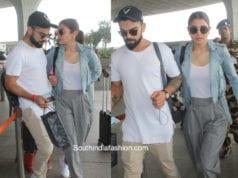 virat kohli anushka sharma at airport