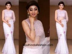 pranitha subhash white saree
