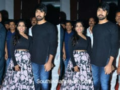 sreeja and kalyan dev at vijetha audio launch