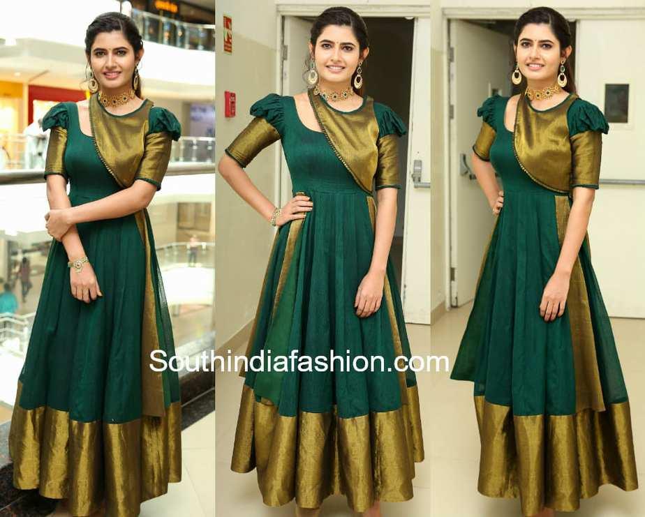 f57e2f9fa6 ashima narwal green traditional gown voylla fashion jewellery launch
