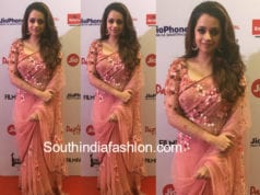 actress bhavana floral saree filmfare awards south 2018