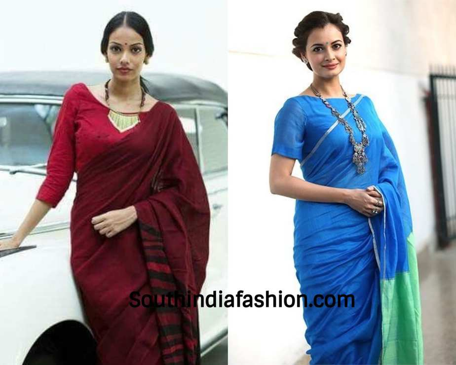 big neck piece for plain sarees parties