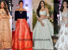 celebrity mehendi outfits