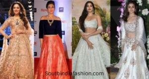 celebrity mehendi outfits