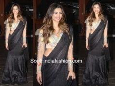 daisy shah black lehenga saree manish malhotra