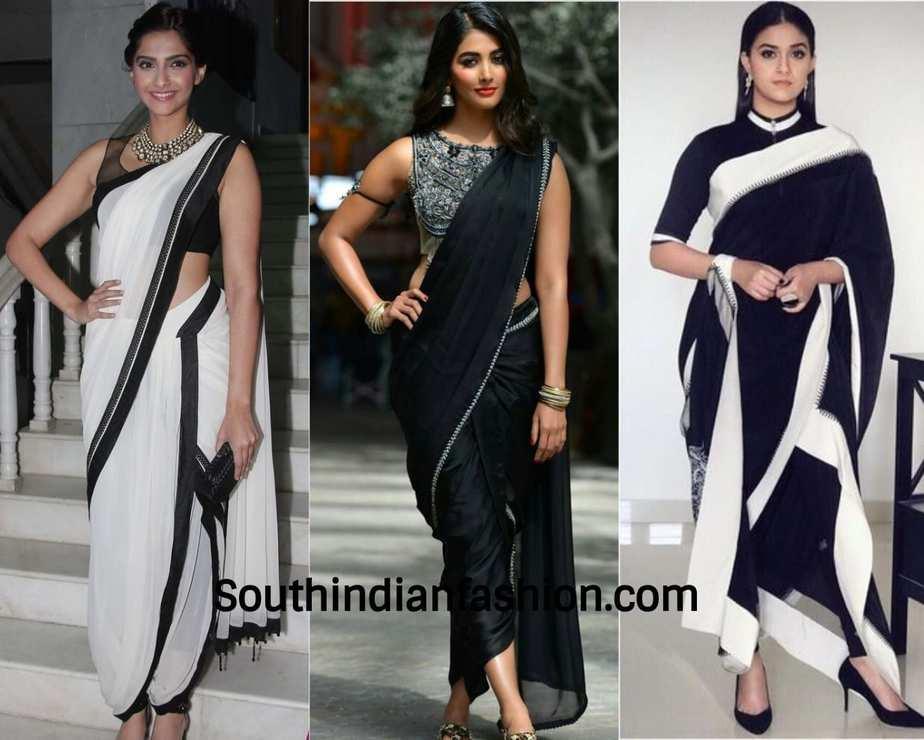 dhoti saree worn by celebrities