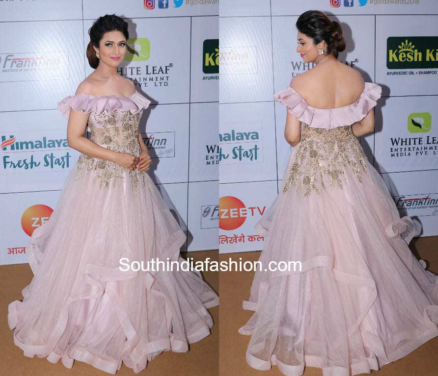afc9343d4b Divyanka Tripathi in Kalki Fashion at Gold Awards 2018 – South India ...