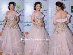 divyanka tripathi lavender gown at gold awards 2018