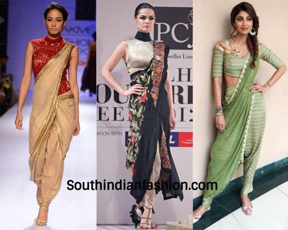 dupatta pant saree looks of celebrities