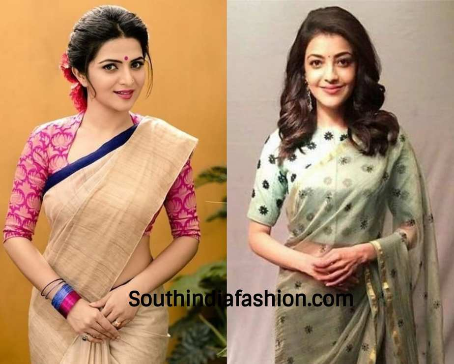 actresses wearing elbow sleeve blouse
