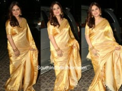 GOWRI MUNJAL GOLD SILK SAREE AT FILMFARE AWARDS SOUTH 2018