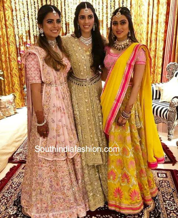 isha ambani and shloka mehta in abu jani sandeep khosla