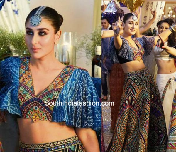 kareena kapoor blue lehenga veere di wedding