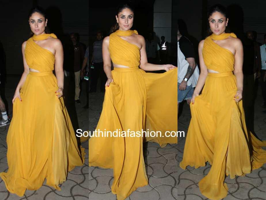 kareena kapoor yellow gown femina miss india event 2018