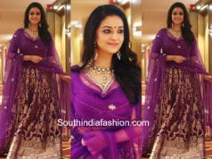 keerthy suresh in purple lehenga by sailesh singhania