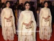 kritika kamra sharara suit at baba siddique iftar party