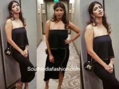 lakshmi manchu black dress