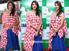 lakshmi manchu red and white top big bazaar event