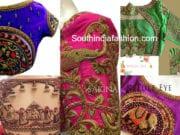 bridal heavy work pattu saree blouse designs bangalore
