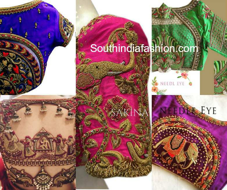 ffd5268721 Bridal Pattu Saree Blouse Designs by Sakina Ahmed of Needle Eye!