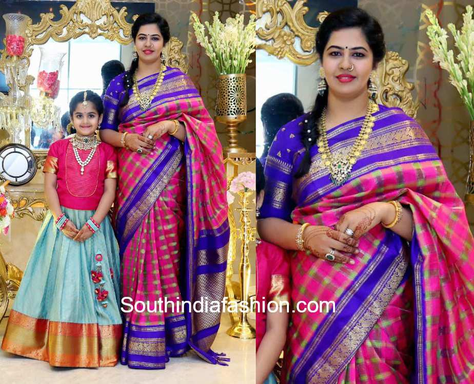 mother daughter traditional outfits