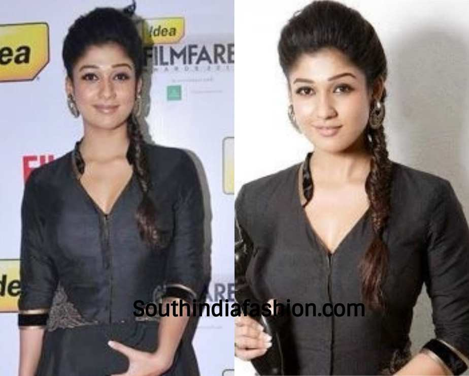 nayanthara fishtail braid