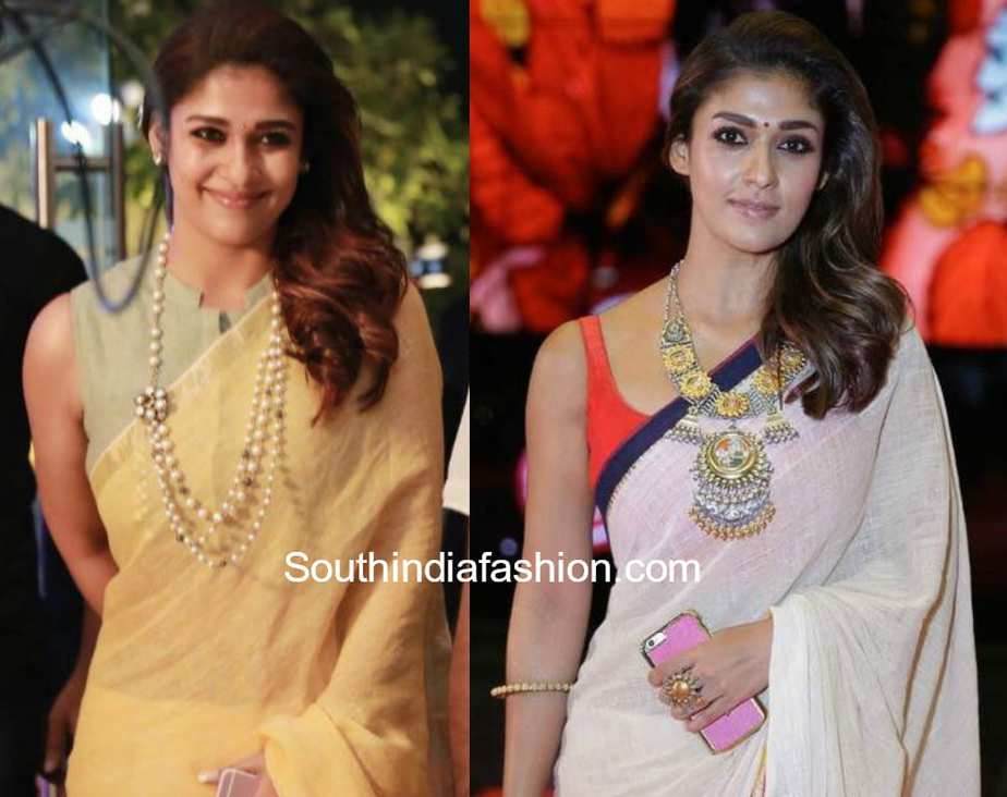 nayanthara side swept wavy hair