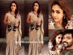 nayanthara saree at vijay awards