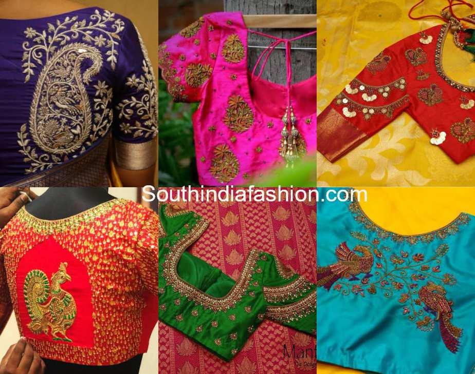 pattu saree blouse designs