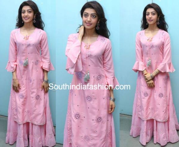 pranitha subhash pink skirt with kurta