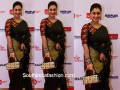 pritha hari black silk saree filmfare awards 2018