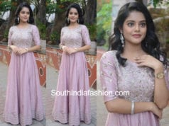 riddhi kumar gown lover audio launch