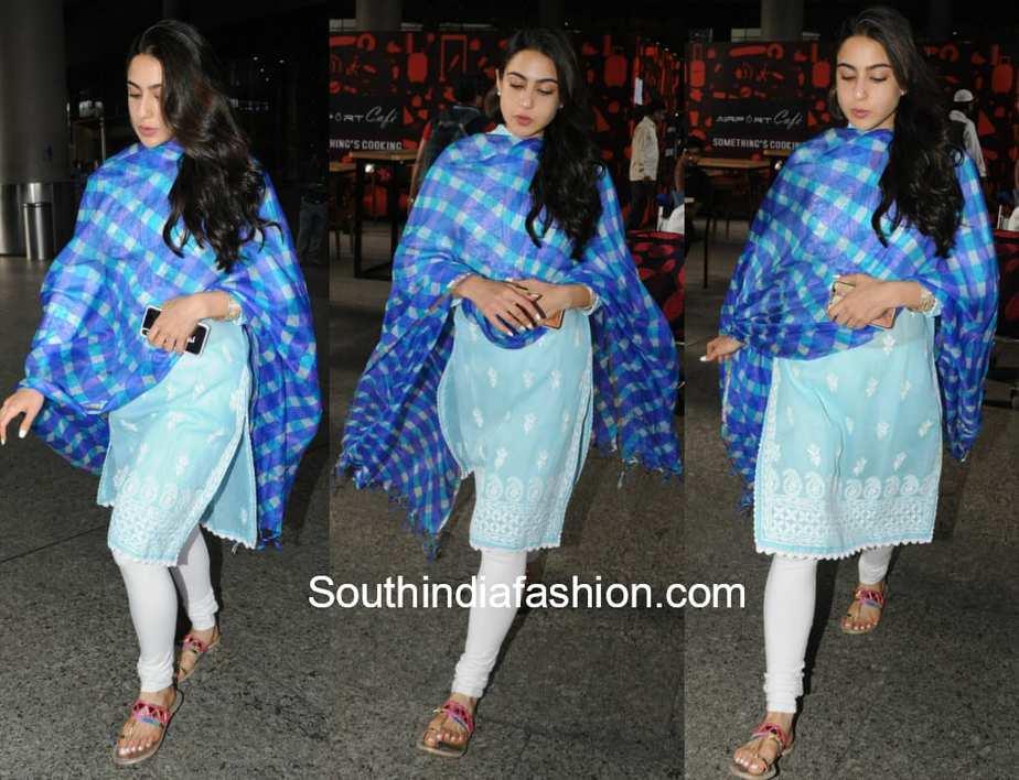 sara ali khan-blue-salwar kameez