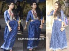 sara ali khan blue cut out maxi dress