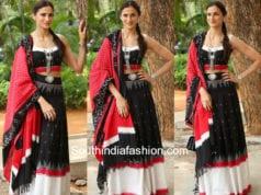 shilpa reddy black and white lehenga wife of ram trailer launch