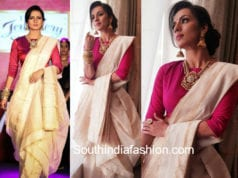 shruti hariharan saree the jewellery show