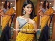 sneha prasanna yellow saree filmfare awards 2018
