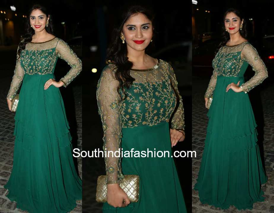 surbhi green gown filmfare awards 2018
