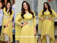 tamannaah bhatia yellow salwar