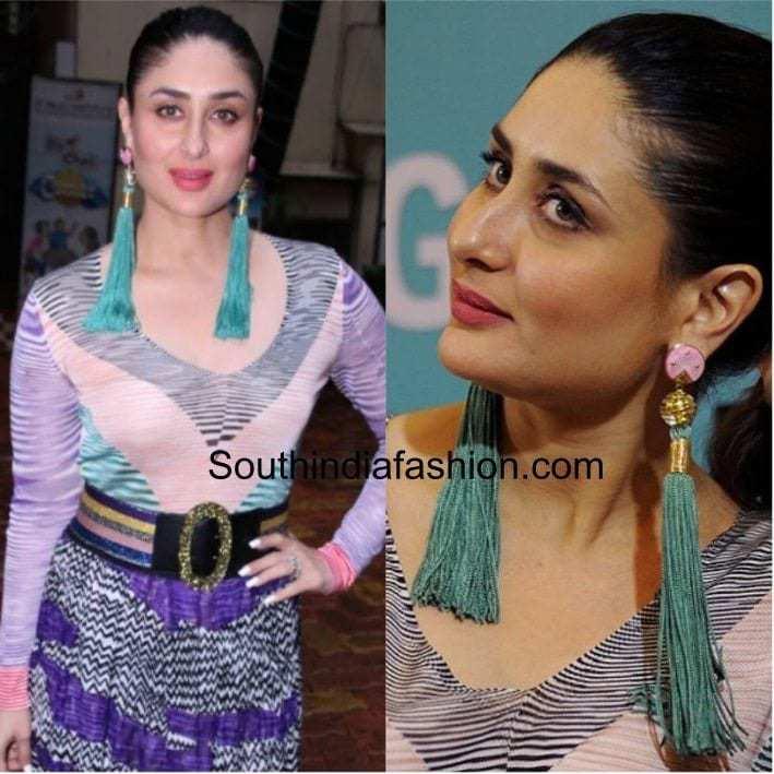 kareena kapoor wearing tassel earrings