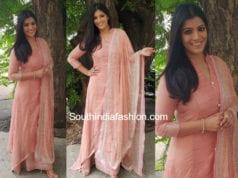 varalaxmi saratkumar pink salwar suit rehana basheer