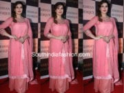 Zareen Khan in pink palazzo suit for Baba Siddiqui's iftar party