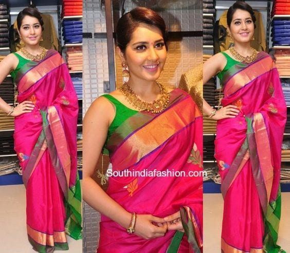 rashi khanna Retro Traditional Look