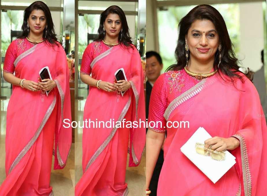 pinky reddy saree