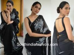 sobhita dhulipala black saree goodachari promotions
