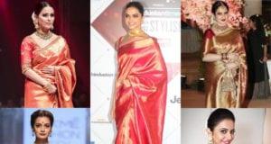 actresses in silk sarees