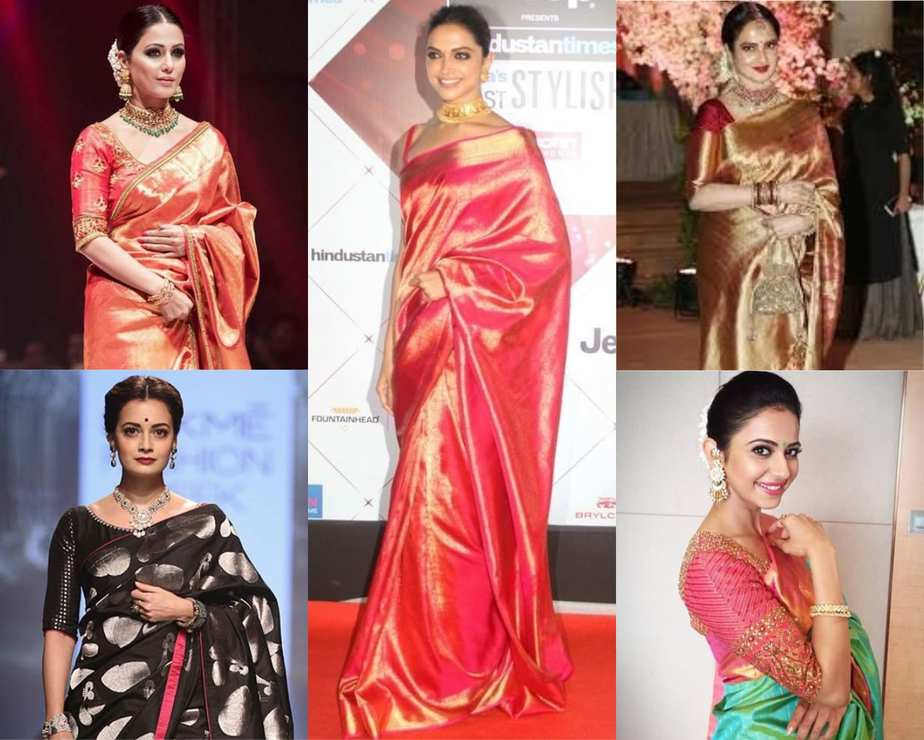 actresses in silk sarees
