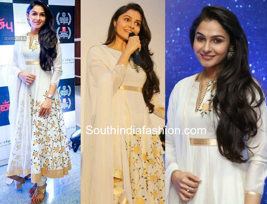 andrea jeremiah white anarkali peranbu audio launch