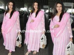 bhagyashree pink chikankari salwar kameez